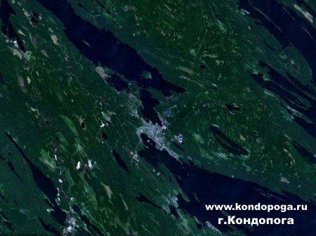 Кондопога 34.29204E 62.21513N вид из космоса